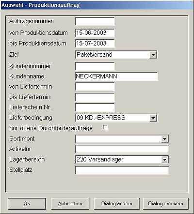 Auswahlmöglichkeiten des Xplorers