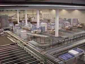Sortierzentrum Fördertechnik